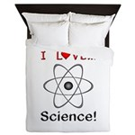 I Love Science Queen Duvet