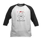 I Love Science Kids Baseball Jersey