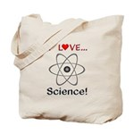 I Love Science Tote Bag
