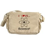 I Love Science Messenger Bag