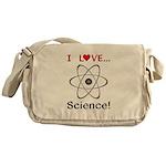 I Love Science Messenger Bag