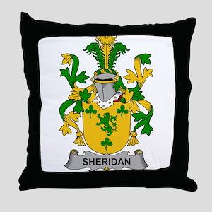 Sheridan Family Crest Throw Pillow