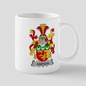 Simpson Family Crest Mugs
