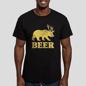 Vintage Yellow Bear+Deer=Beer T-Shirt
