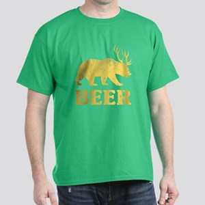 Vintage Yellow Bear+Deer=Beer T-Shirt