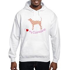 i heart my coonhound Hoodie