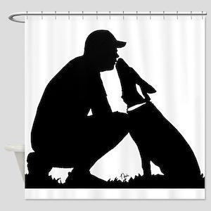 German Shepherd Kiss Shower Curtain