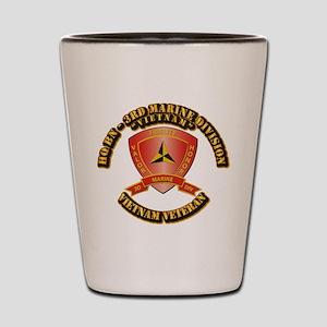 USMC - HQ Bn - 3rd Marine Division VN Shot Glass