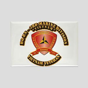 USMC - HQ Bn - 3rd Marine Division VN Rectangle Ma