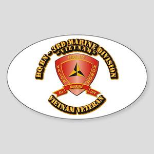 USMC - HQ Bn - 3rd Marine Division VN Sticker (Ova