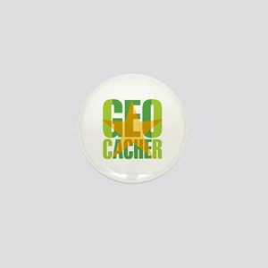 Star Geocacher Green Mini Button