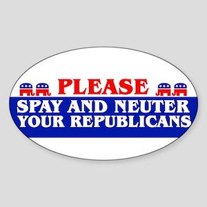 StickerBumper_SPAYANDNEUTER Sticker