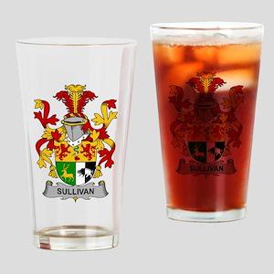 Sullivan Family Crest Drinking Glass