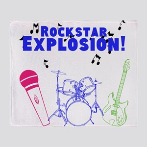 Rockstar Explosion logo Throw Blanket