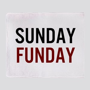 Sunday Funday Black/Red Throw Blanket