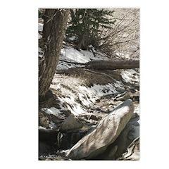 Alpine Stream sepia tonedPostcards (Package of 8)