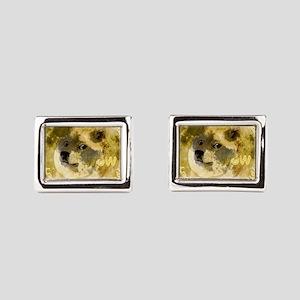 Dogecoin moon small Cufflinks