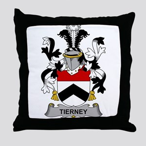 Tierney Family Crest Throw Pillow