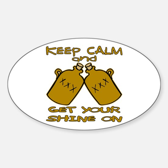 And Get Your Shine On Sticker (Oval)