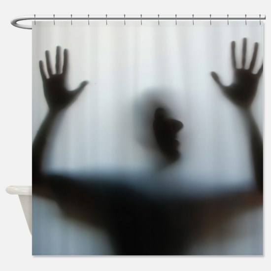 Help! Hands Up Funny Shower Curtain