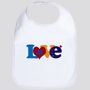 Cute LOVE with Hearts Bib