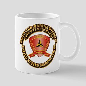 USMC - HQ Bn - 3rd Marine Division With Text Mug