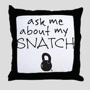 Snatch (Kettlebell) Throw Pillow