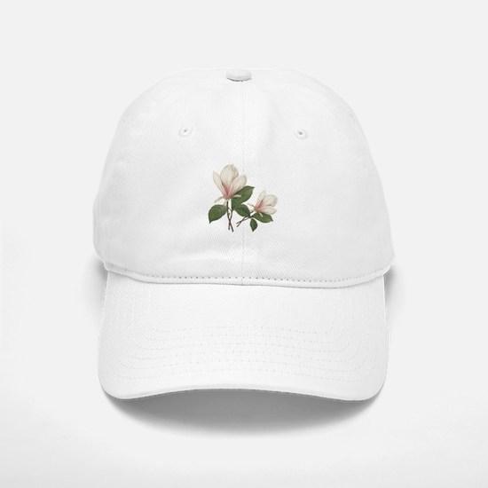 Vintage botanical art, elegant magnolia flower. Ha