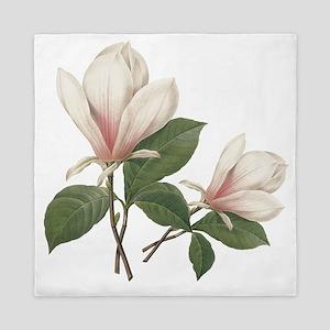 Vintage botanical art, elegant magnolia flower. Qu