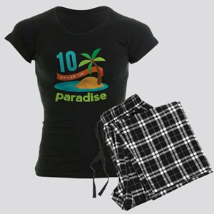 10th Anniversary Paradise Women's Dark Pajamas