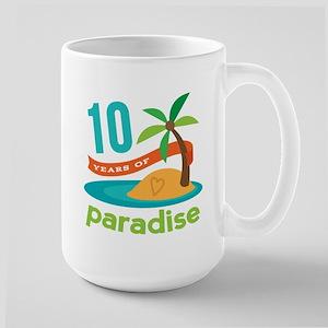 10th Anniversary Paradise Large Mug