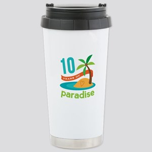 10th Anniversary Paradise Stainless Steel Travel M