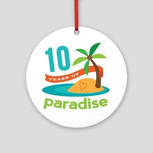 10th Anniversary Paradise Ornament (Round)