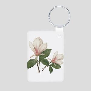 Vintage botanical art, elegant magnolia flower. Ke