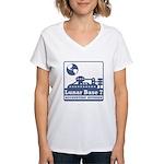 Lunar Accounting Division Women's V-Neck T-Shirt