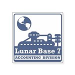 Lunar Accounting Division Square Sticker 3