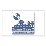 Lunar Accounting Division Sticker (Rectangle 10 pk