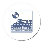 Lunar Accounting Division Round Car Magnet