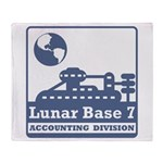 Lunar Accounting Division Throw Blanket