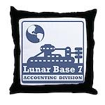 Lunar Accounting Division Throw Pillow