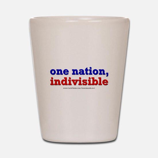 One Nation Indivisible lightapparel Shot Glass