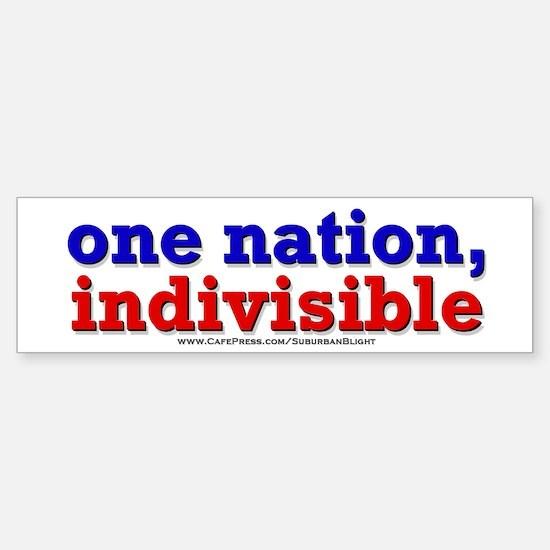 One Nation Indivisible 10x3 Bumper Bumper Bumper Sticker