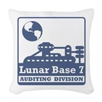 Lunar Auditing Division Woven Throw Pillow