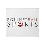 Equine Trail Sports Logo Throw Blanket