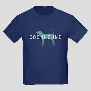 Coonhound Dogs Kids Dark T-Shirt
