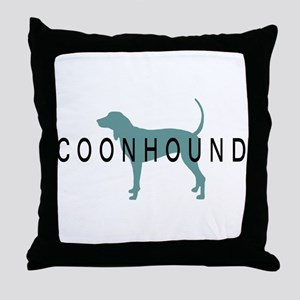 Coonhound Dogs Throw Pillow