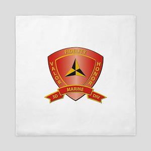 USMC - HQ Bn - 3rd Marine Division Queen Duvet