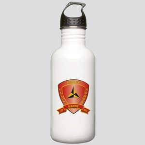 USMC - HQ Bn - 3rd Marine Division Stainless Water