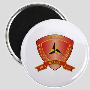 USMC - HQ Bn - 3rd Marine Division Magnet