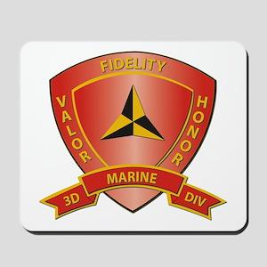 USMC - HQ Bn - 3rd Marine Division Mousepad